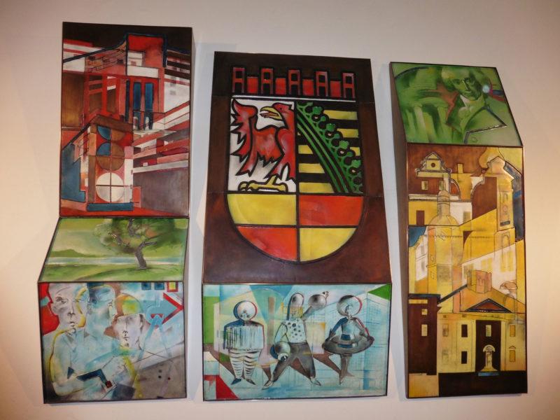 Wandbilder im Rathaus von Dessau